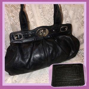 Coach 13924 Large Leather Satchel GOOD CONDITION